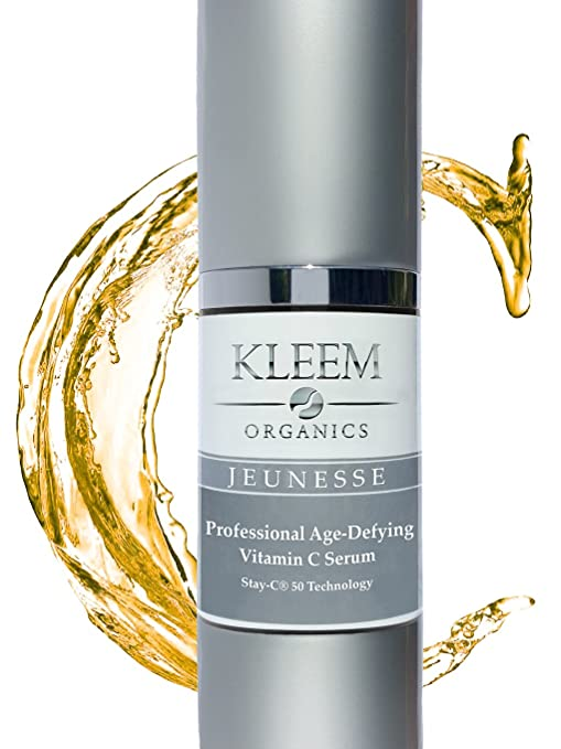 Kleem Organics Anti Aging Vitamin C Serum for Face with Ferulic and Hyaluronic Acid. The No. 1Italian Anti Wrinkle Serum and Dark Spot Corrector. Cruelty Free Organic Skin Care