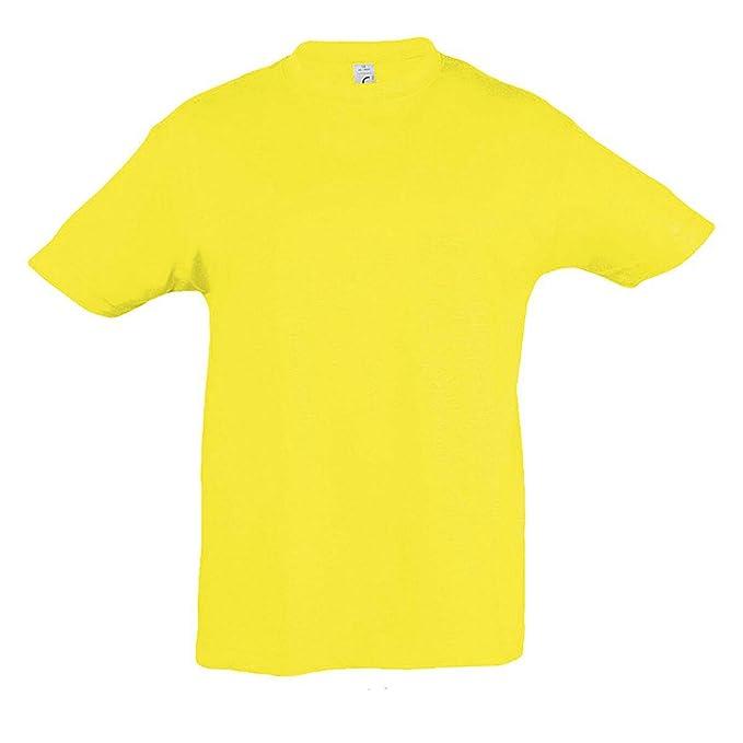 3a4b6d2d5 SOLS Camiseta básica de manga corta Modelo Regent Unisex Niños Niñas -  Deportes Gimnasia Correr  Amazon.es  Ropa y accesorios