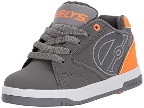 9d48dc7364 Heelys Boys' Propel 2.0 Tennis Shoe, Charcoal/Orange/Grey, 1 M