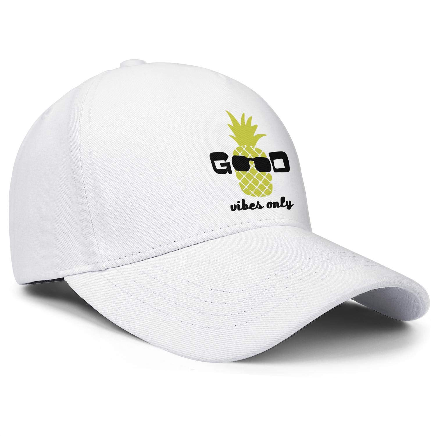 The Pineapple Good Vibes Unisex Baseball Cap Highly Breathable Sport Hats Adjustable Trucker Caps Dad-Hat