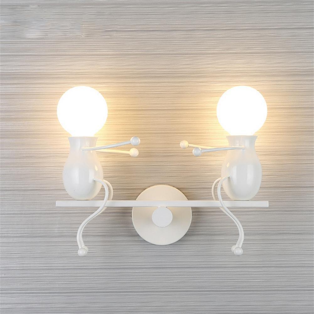 DENG Moderne Kinder Wandleuchte Nachttischlampen Kreative Bösewicht Korridor Treppenhaus Balkon Lichter, Weiß