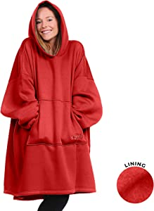 THE COMFY Hoodie | Oversized Unlined Wearable Fleece Cotton Blanket, One Size Fits All, Shark Tank