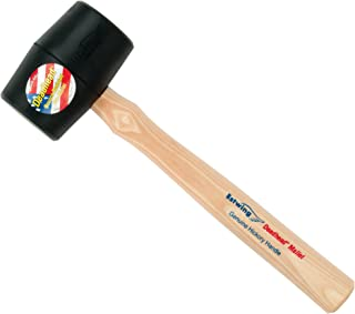 product image for Estwing Deadhead Rubber Mallet - 12 oz Soft-Face Hammer with Bounce Resistant Head & Hickory Wood Handle - DH-12
