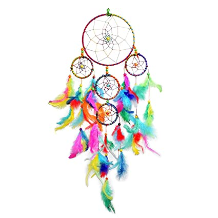 JIADA Dream Catcher Wall Hanging, Multi Color for Kids (55x15cm)