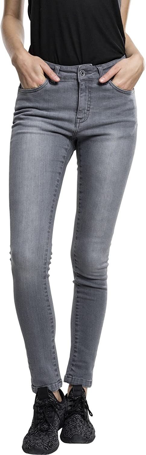 TALLA 29W / 32L. Urban Classics Ladies Skinny Denim Pants Vaquero Mujer