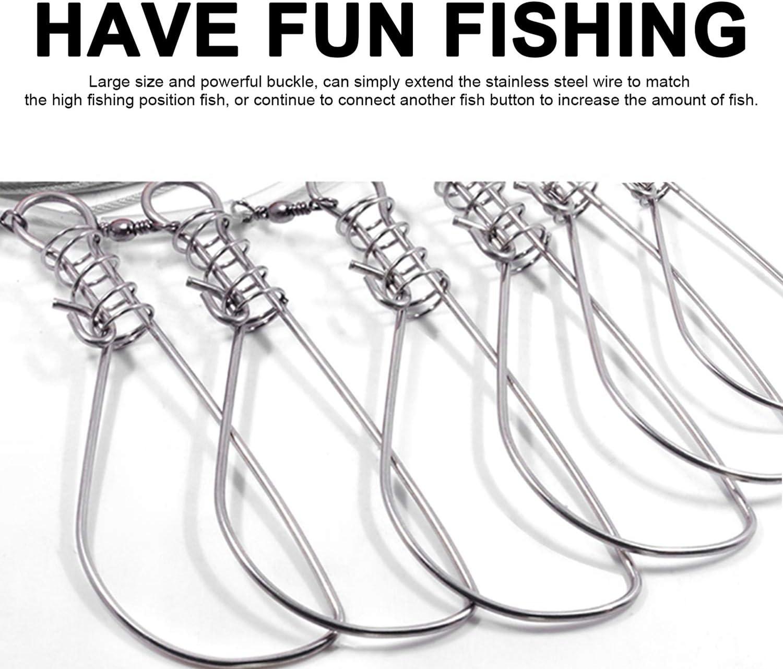 Luhr-Jensen Stringer Pro Classe Câble en Acier Inoxydable 10 Fish Stringer