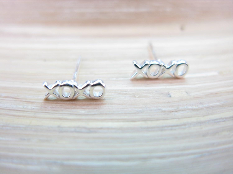 FaithOwl XOXO Kiss Hug 925 Sterling Silver Stud Earrings