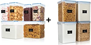 Vtopmart 6pcs Airtight Flour Containers and 4pcs Large Food Containers