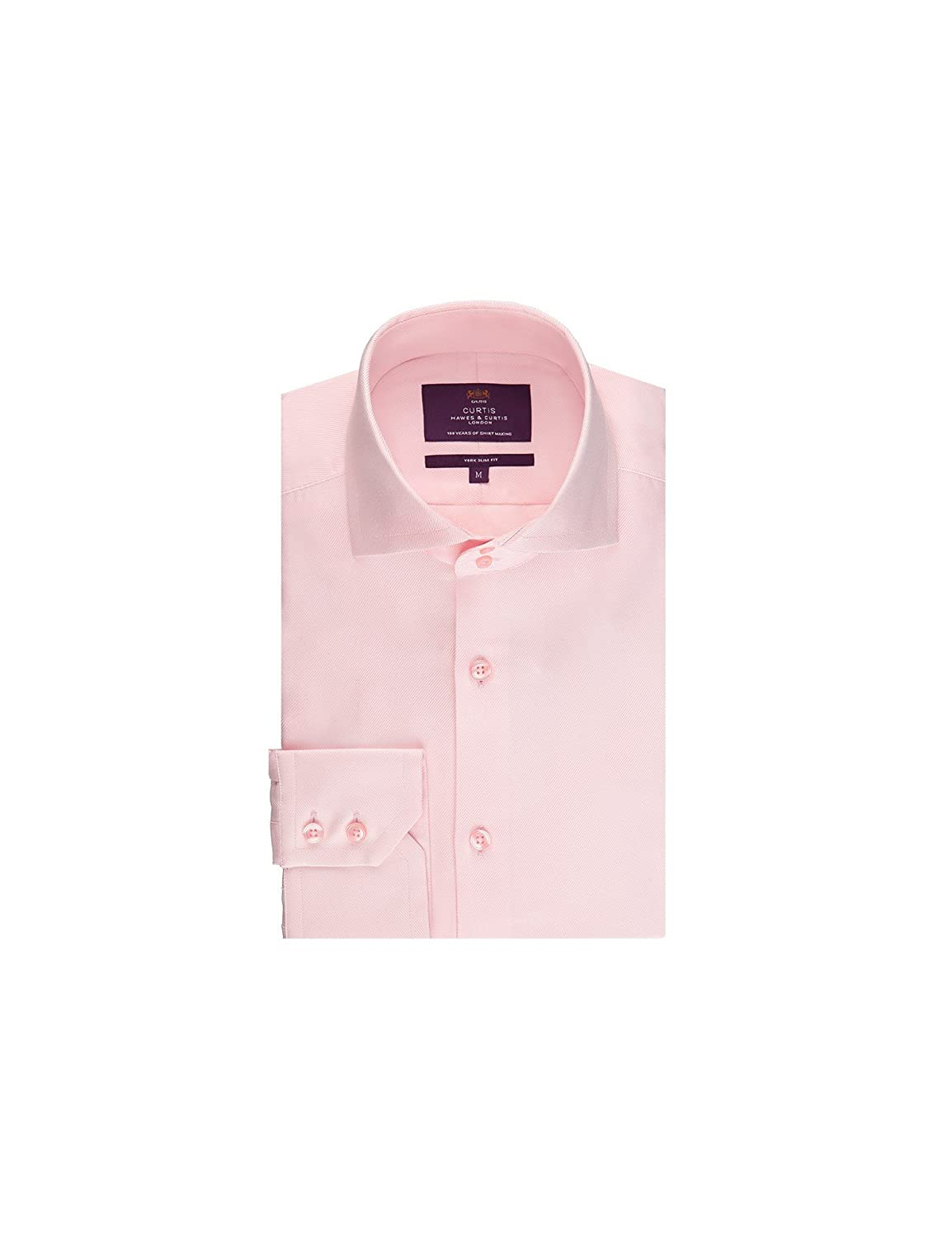 Hawes Curtis Curtis Light Pink Twill Slim Fit Mens Smart Casual