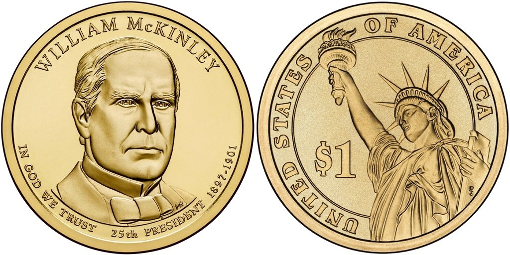 2013-P  William McKinley  PRESIDENTIAL DOLLAR COIN