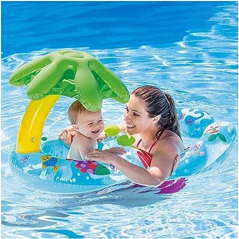 Coohole - Tumbona flotante para bebé con asiento de toldo inflable ...