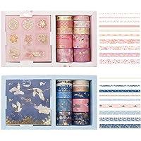 Decoratieve Masking Tape,Tianhe 20 Broodjes Decoratieve Washi Tape-sets Plakband Papiertape Collectie Met 20 Stickers…