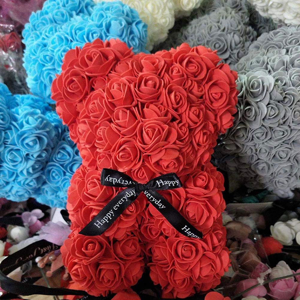 BerryChips Oso De Rosas Flor Artificial para Niños Flor Eterna ...