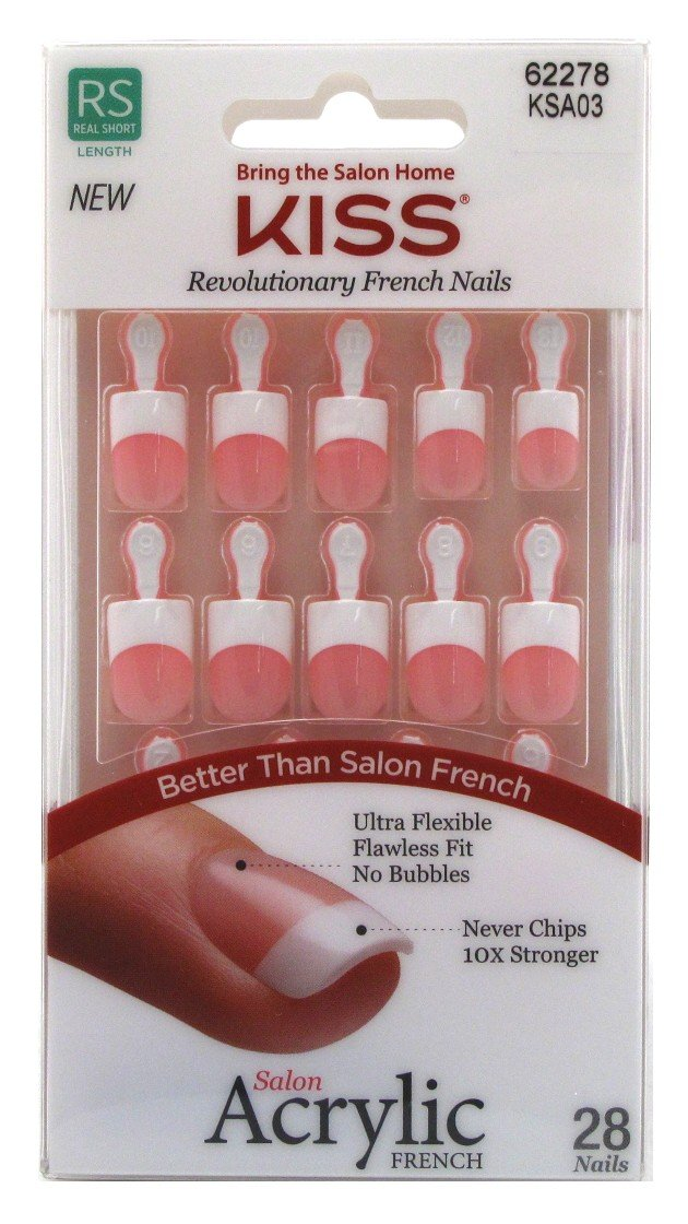 Kiss Salon Acrylic French Nail Kit-Alter Ego, 1-Count KSA03