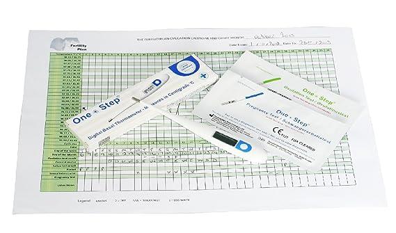 Termómetro digital basal para control del ciclo, 15 pruebas de ovulacion y 5 pruebas de embarazo: Amazon.es: Salud y cuidado personal