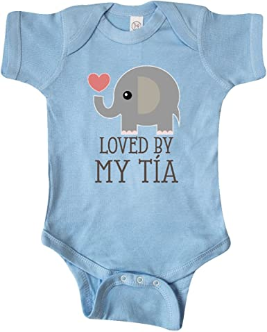 Spanish Mi Tia Me Ama My Aunt Loves Me Infant Toddler Baby Bodysuit One Piece