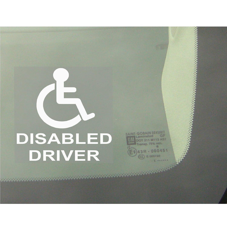 """f/ür Autos Taxis Lastwagen Aufschrift /""""Not All DIsabilities Are Visible/"""" Warnhinweis 1 St/ück Aufkleber//Sticker rund"""