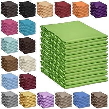 60x120cm und 70x140cm Nurtextil24 Bettlaken 100x170cm 28 Farben 100/% Baumwolle ohne Gummizug Creme