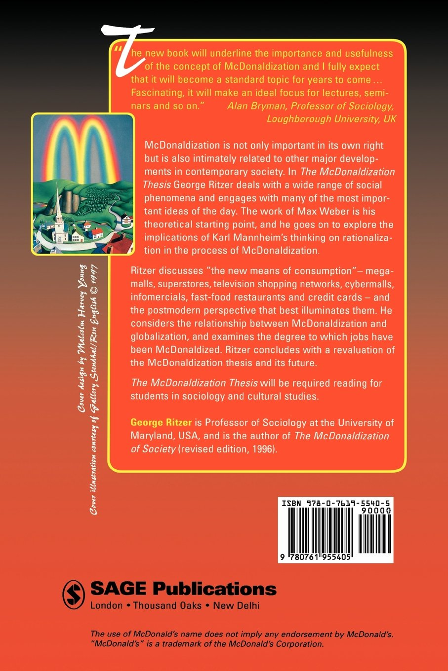 essay about mcdonaldization Unlike most editing & proofreading services, we edit for everything: grammar, spelling, punctuation, idea flow, sentence structure, & more get started now.