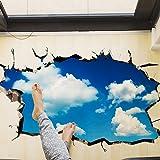 3d Sticker❤️KKangrunmy Wall Stickers Specchio Adesivo Murale Unicorno Windshield Sticker 3D Bridge Floor/Parete Adesivo Sfoderabile Decalcomanie In Vinile Arte Soggiorno Decori (B)