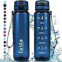 Grsta Botella Agua - Botella de Agua Deportes 350ml/500ml/800ml/1L/1.5L Botella Deportiva Tritan de Plástico Sin BPA con…