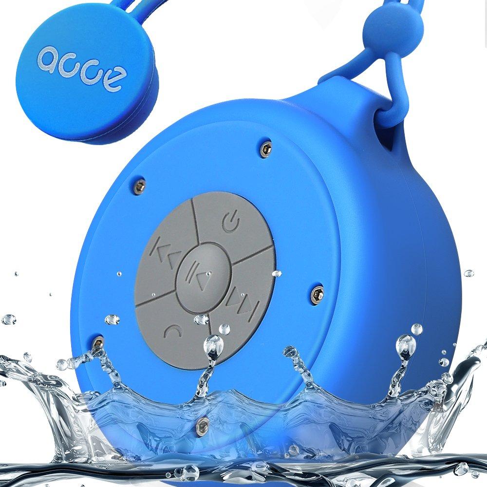 Ojaミニ防水ワイヤレスシャワースピーカーハンズフリーポータブルスピーカーフォンマイク内蔵、 ブルー OJA-Q50-blue   B0777M7FTL