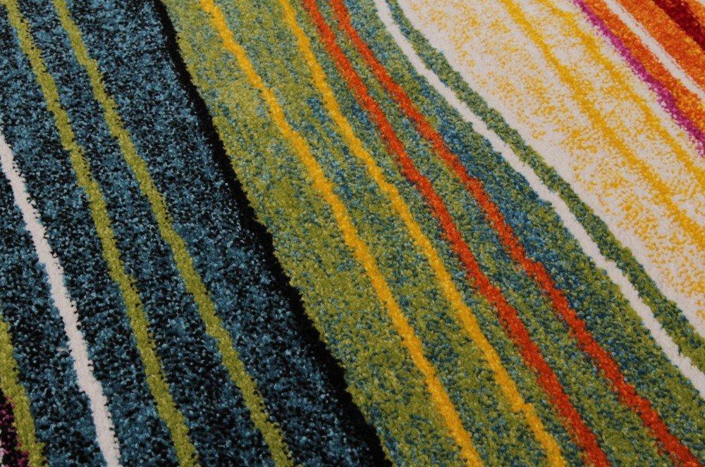 Teppich bunt gestreift  Teppich Modern Splash Designer Teppich Bunt Streifen Model Neu OVP ...
