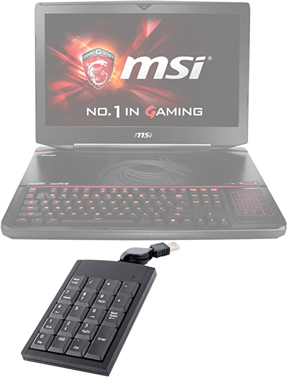 DURAGADGET Teclado Numérico Negro para MSI GT80 Titan: Amazon ...