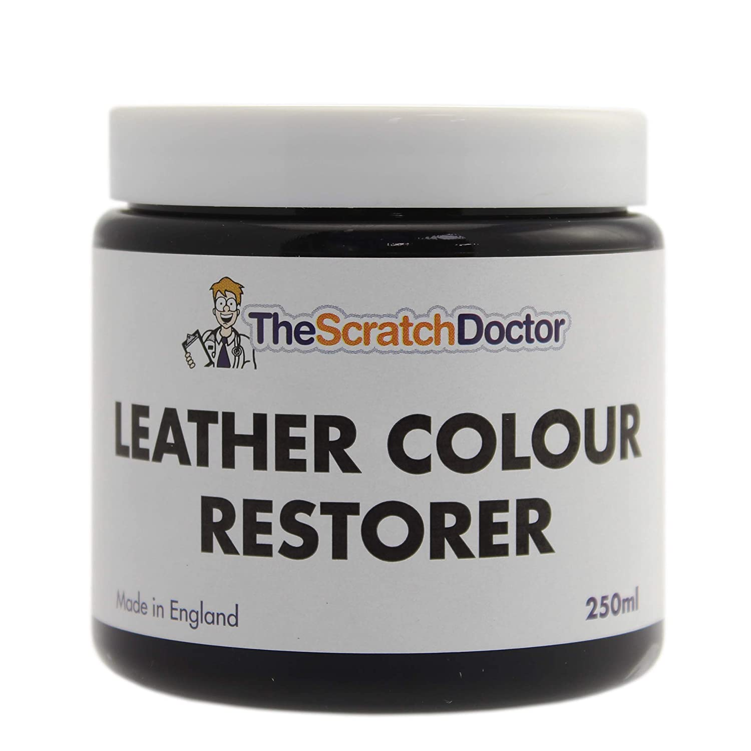 BLACK Leather Colour Restorer for Faded and Worn Car Interiors The Scratch Doctor