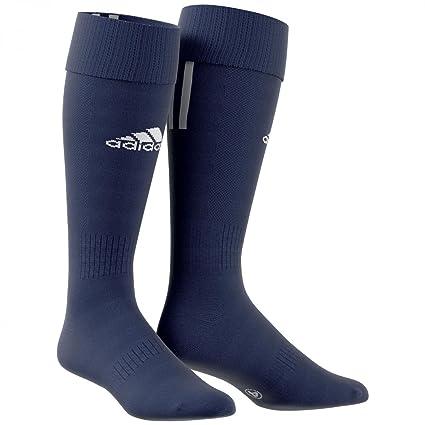 adidas Santos 3-Stripe Calcetines, Hombre, Azul/Blanco, 0