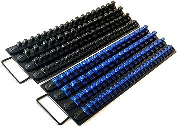 18-Inch Rail x3 TEKTON Socket Organizers + Tray OST77158 Mixed