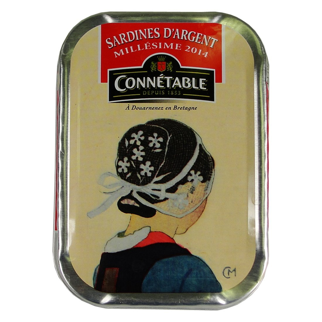 Connetable Sardines d'Argent Millesime 2014 in Olive Oil 4 oz by Connetable