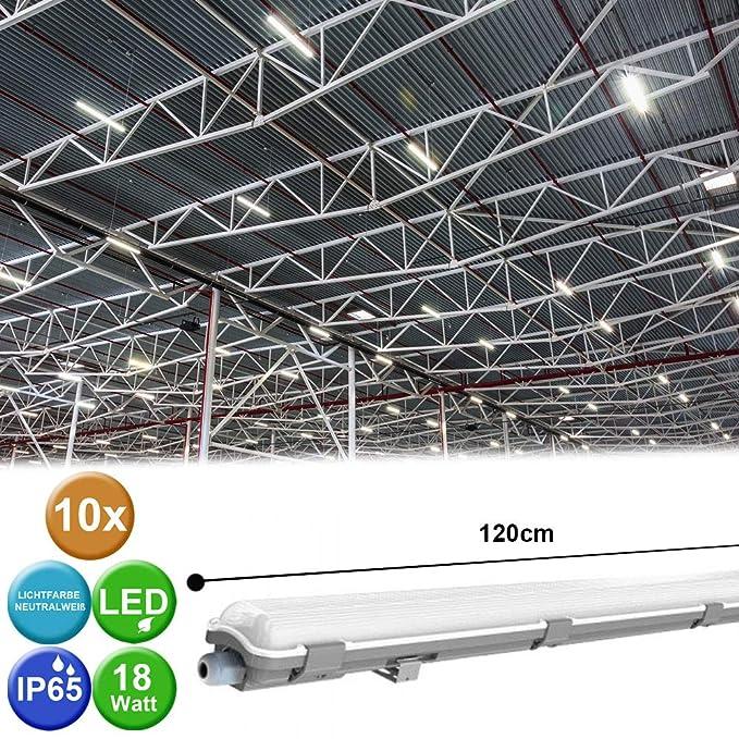 LED 20W Wannen Decken Lampe Industrie Werkstatt Tages Licht Leuchte Keller Röhre