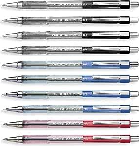 Pilot Better Retractable Ballpoint Pen, Bundle Black, Blue, Red colors Fine Point 07, 10 COUNT