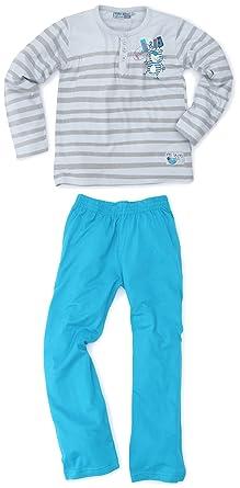 Billy Blue Friend - Pyjama - Garçon - Bleu (Gris Clair/Turquoise ...