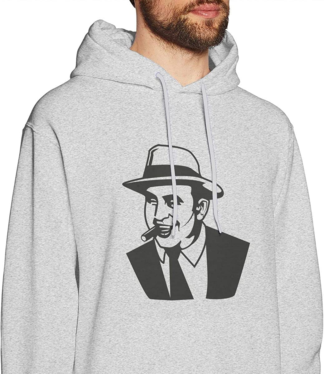 Whiteandnavy Warmth Mens Al Capone 3 Sweater Gray with Mens Hoodies