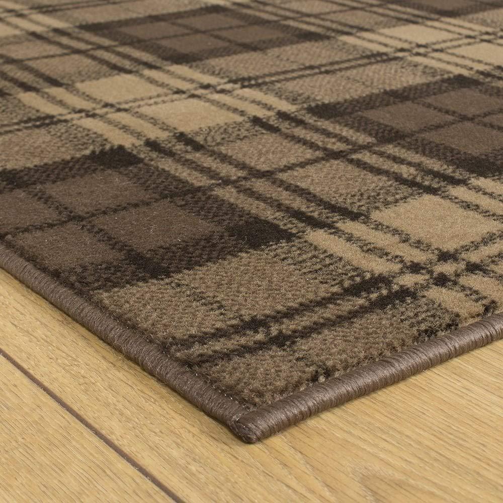 Tartan Hallway Carpet Runner Blue Gold or Red//Green Brown Beige 600cm Black Any Length Between 150cm