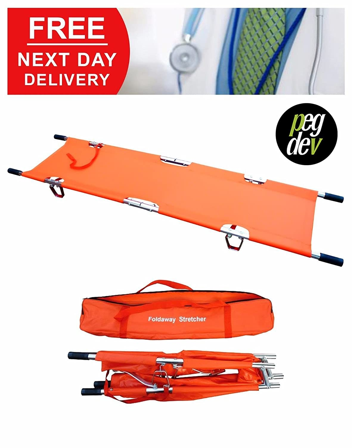 Lightweight Two-FOLD Stretcher with Carry Bag Medical PVC Coated Anti-Bacterial PDL