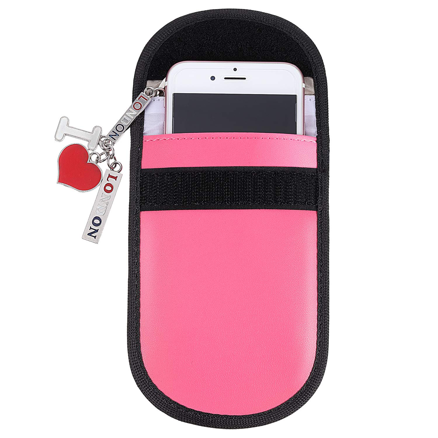 Universal Protection Tatuo 2 Pieces Car Key Signal Blocking Pouch Keyless Entry Car Key Fob Pouches Anti Theft Fob Protector Pouch Block RFI//WiFi//GSM//LTE RFID Signal Blocking