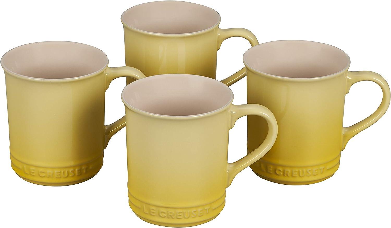Caribbean 14 oz Le Creuset Stoneware Set of 4 Mugs
