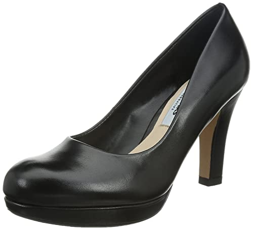 Clarks Crisp Kendra, Women's Platform Pumps, Black (black Leather), 3.5 UK