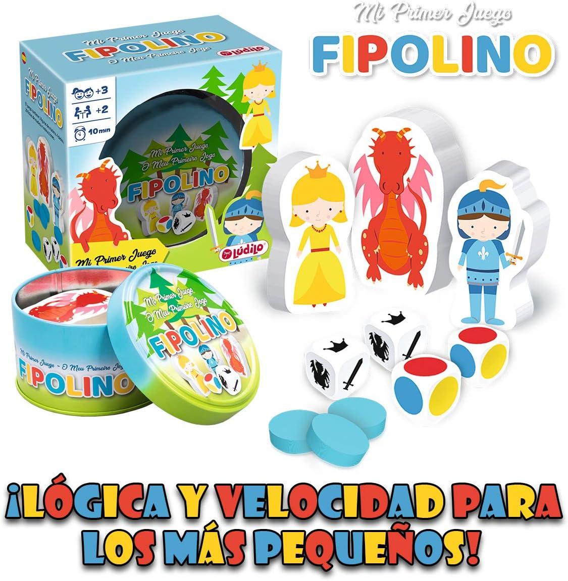 LUDILO-Fipolino mesa para niños, familia educativo, mi primer ...