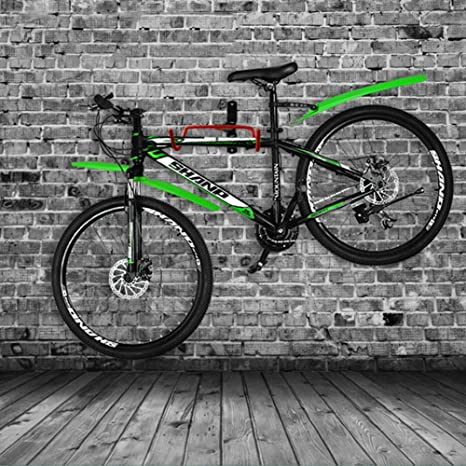 WhalePrime Soporte de Pared para Bicicleta, Doble Gancho, Plegable ...