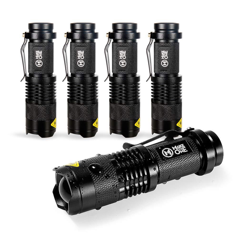 MakeTheOne LED Flashlight Torch Tactical Mini Handheld Torch (5pc)