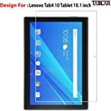 TASLAR Arc Edge Tempered Glass Screen Scratch Guard Protector for Lenovo Tab4 10 Tablet 10.1 inch,(Clear)