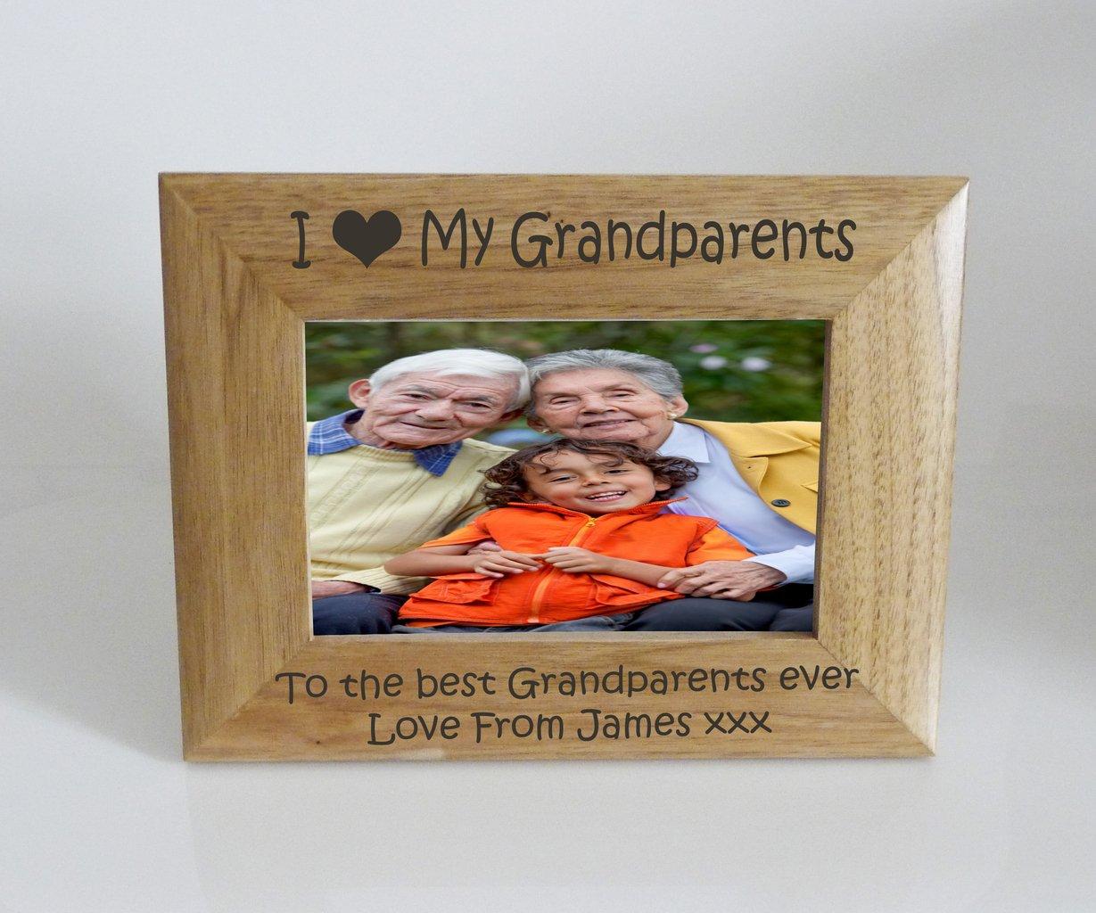 Grandparents Photo Frame 7 x 5 - I heart-Love My Grandparents 7 x 5 ...