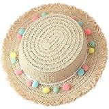 97aae52ca6e49 Leisial Sombreros de Paja de Sol Playa Gorra de Bola ala Ancho Protector  Visera de Verano