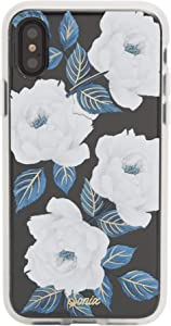 Sonix Sapphire Bloom Case for iPhone X/XS [Drop Test Certified] Protective Blue Floral Clear Case for Apple iPhone X, iPhone Xs