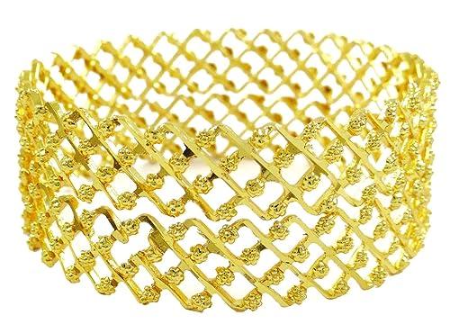 Amazon.com: Banithani - Pulsera tradicional chapada en oro ...