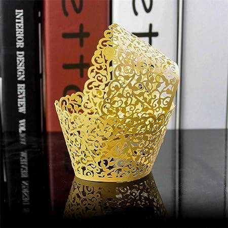 Vigna in Pizzo Tagliato in Carta per Muffin Torta Stampo Decorazione DIY Festa Matrimonio Parte homiki 12/PCS Pirottini a Cupcake